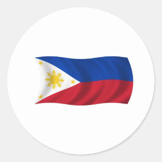 Philippines Flag Round Sticker