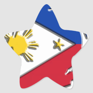 Philippines FLag Star Sticker