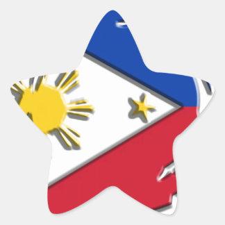 Philippines FLag Star Sticker