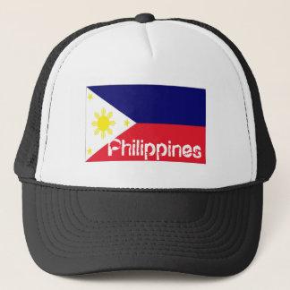 Philippines flag trucker mesh souvenir hat