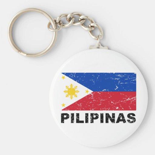 Philippines Flag Vintage Key Chains