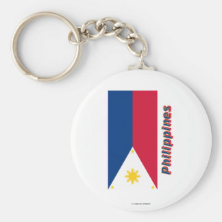Philippines Flag with Name Key Ring