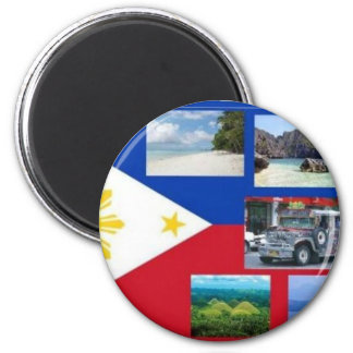 Philippines - Fridge Button Magnet