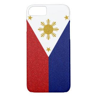 Philippines Glitter Flag iPhone 7 Case