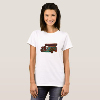 Philippines Jeepney - Vintage glow lines T-Shirt