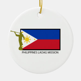 PHILIPPINES LAOAG MISSION LDS CTR ROUND CERAMIC DECORATION