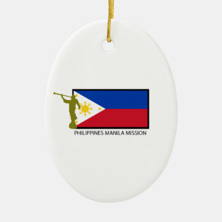 PHILIPPINES MANILA MISSION LDS CTR CERAMIC OVAL DECORATION