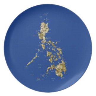 Philippines Map Plate