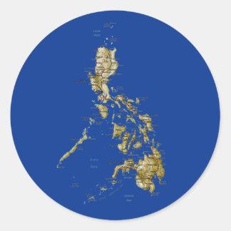 Philippines Map Sticker