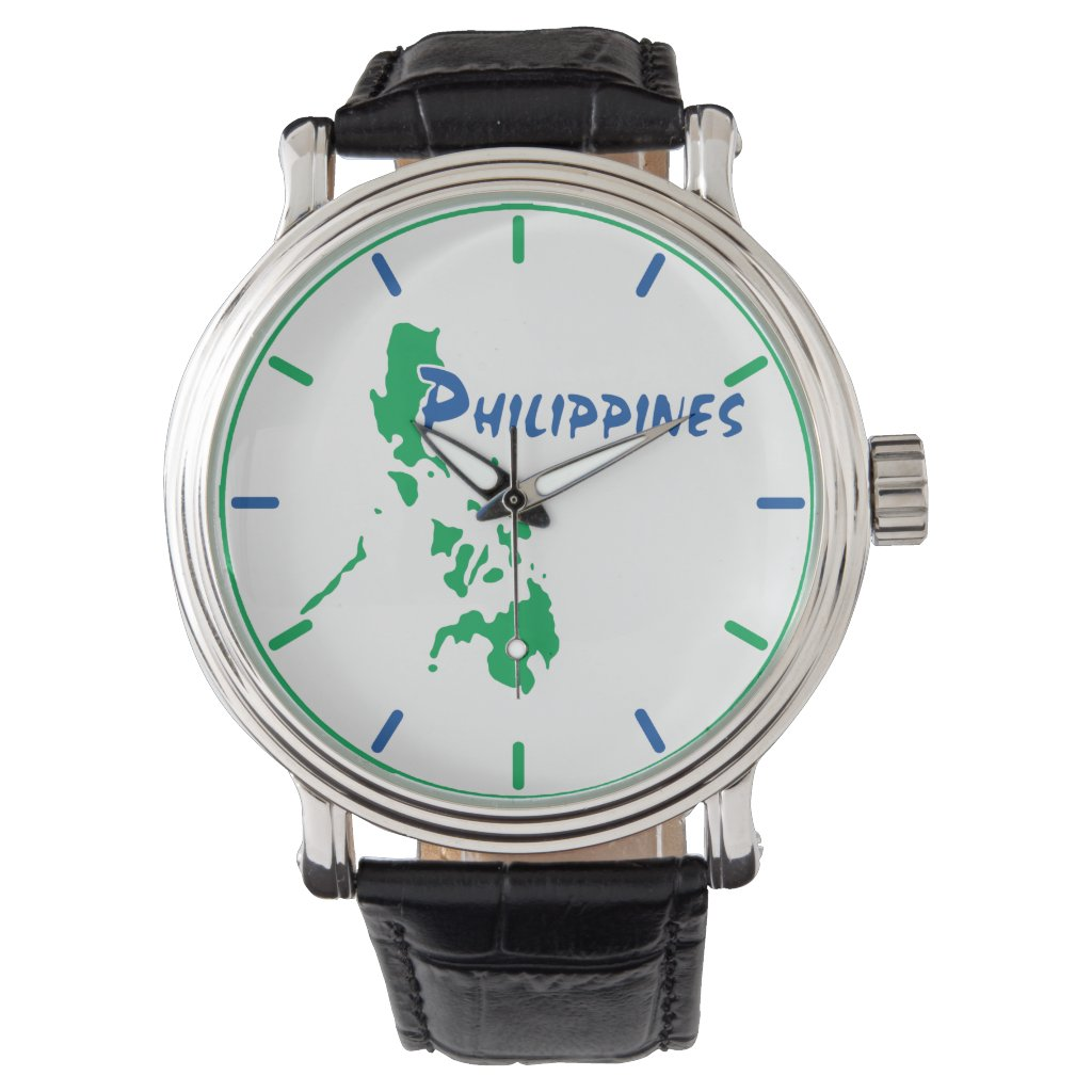 Philippines Map Wristwatch