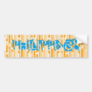Philippines on Ethnic Background Bumper Sticker