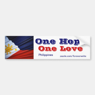 philippines one love bumper sticker