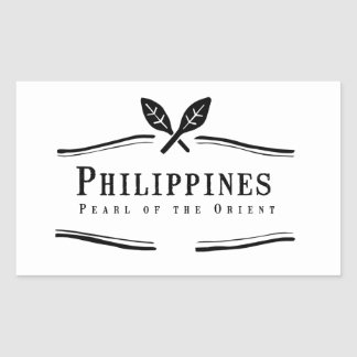 Philippines Pearl of the Orient Rectangular Sticker