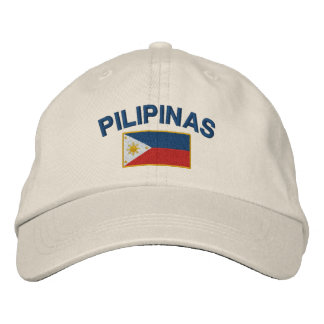 Philippines Pilipinas Flag Embroidered Hat