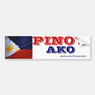 Philippines Pinoy ako Bumper Sticker