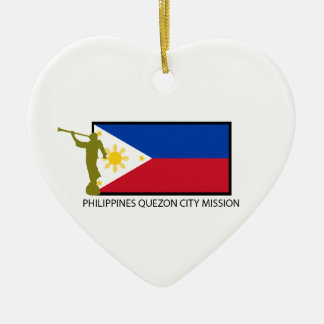 PHILIPPINES QUEZON CITY MISSION LDS CTR CERAMIC HEART DECORATION