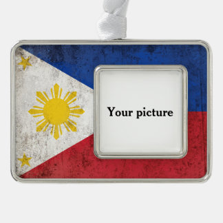 Philippines Silver Plated Framed Ornament