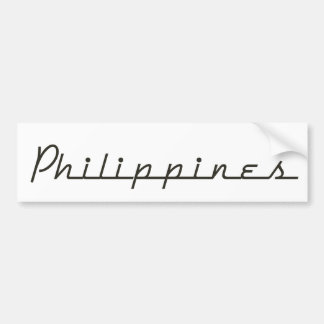 Philippines Sporty Bumper Sticker