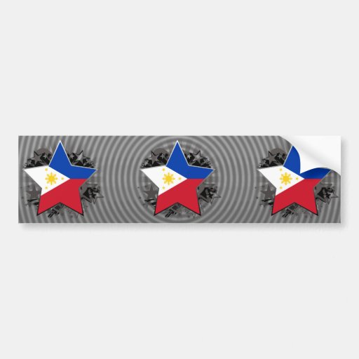 Philippines Star Bumper Stickers