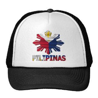 Philippines Star Flag Mesh Hats