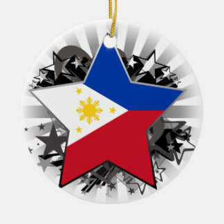 Philippines Star Round Ceramic Decoration