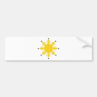 Philippines Sun | Filipino Sun | PI Sun Bumper Sticker