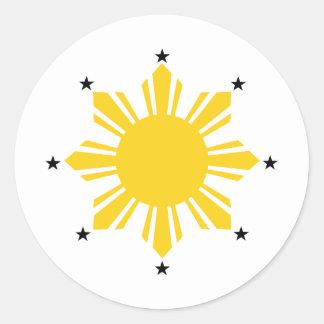 Philippines Sun | Filipino Sun | PI Sun Classic Round Sticker