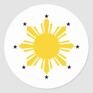 Philippines Sun | Filipino Sun | PI Sun Round Sticker