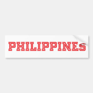 Philippines Varsity Bumper Sticker