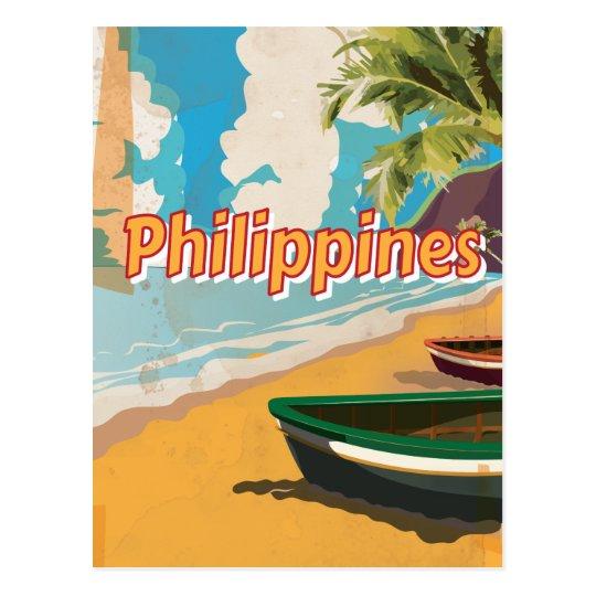 Philippines Vintage travel poster Postcard