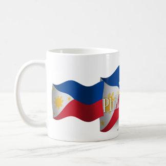 Philippines Waving Flag Basic White Mug