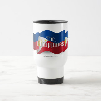 Philippines Waving Flag Stainless Steel Travel Mug