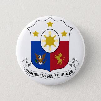 PhilippinesCoat of Arms 6 Cm Round Badge
