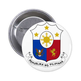 PhilippinesCoat of Arms 6 Cm Round Badge