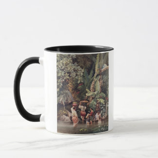 Philippino Women Washing Beneath a Banana Tree, 18 Mug