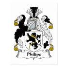 Philips Family Crest Postcard