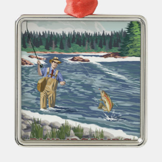 Philipsburg, MontanaFly Fisherman Christmas Ornament