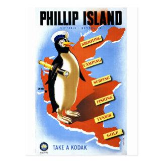 Phillip Island Victoria Australia Vintage Poster Postcard