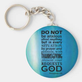 Phillipians 4:6 key ring