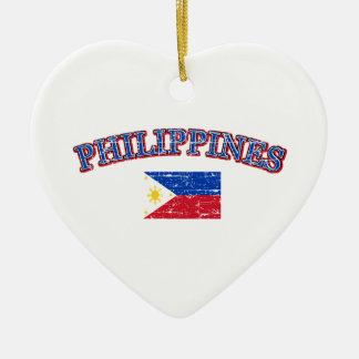 Phillipines football design christmas ornament