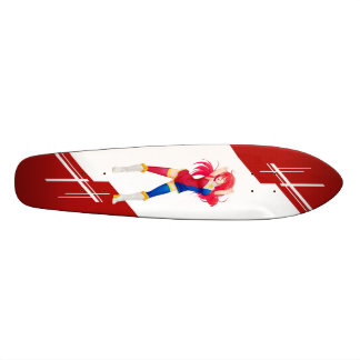 Phillipines Manga girl dressed in Flag - Phillipin 21.3 Cm Mini Skateboard Deck