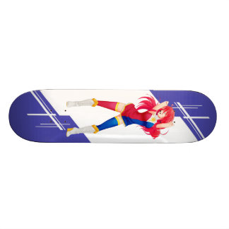Phillipines Manga girl dressed in Flag - Phillipin Custom Skate Board