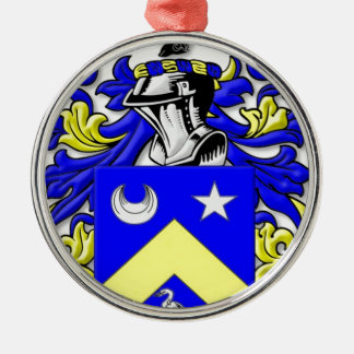 Phillippe Coat of Arms Silver-Colored Round Decoration