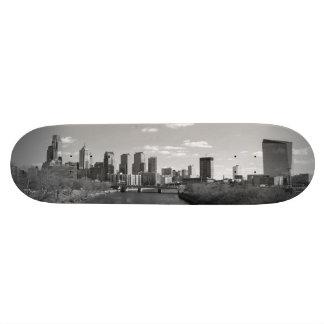 Philly b/w 21.6 cm old school skateboard deck