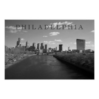 Philly b/w poster