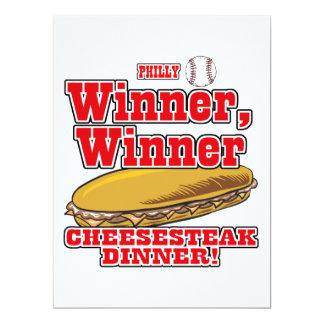 Philly Baseball Winner Winner Cheesesteak Dinner Personalized Announcements