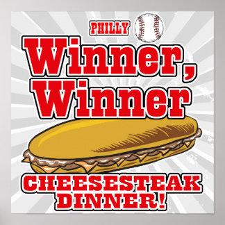 Philly Baseball Winner Winner Cheesesteak Dinner Posters