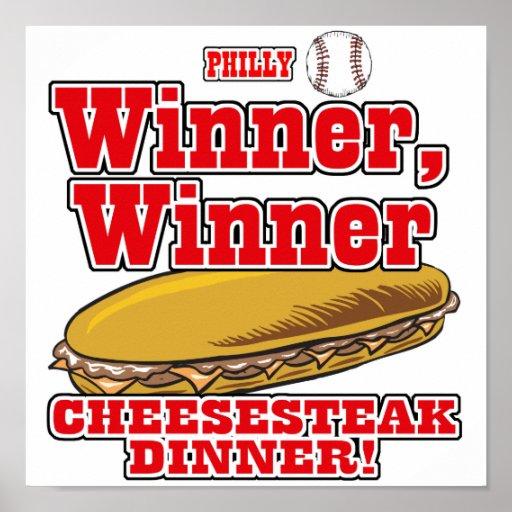 Philly Baseball Winner Winner Cheesesteak Dinner Poster