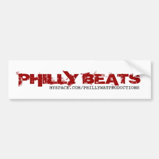 PHILLY BEATS, MYSPACE.COM/PHILLYWATPRODUCTIONS BUMPER STICKER
