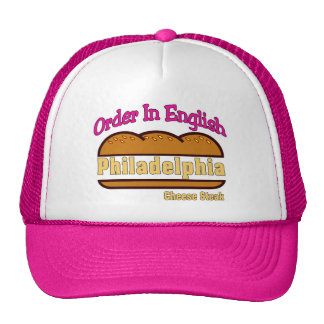 Philly Cheese Steak- Order In English Mesh Hat